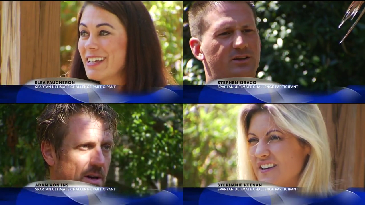 Local Charleston Obstacle Race team interviewed by Charleston NBC New Channel 2 for Spartan Ultimate Team Challenge tv show. NBC interviews Stephen Paul Siraco, Stephanie Keenan, Elea Faucheron and Adam Von Ins.