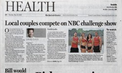 Charleston Post & Courier Features Charleston Warriors NBC Spartan Obstacle Race Team Adam Von Ins, Elea Faucheron, Stephen Siraco, Stepahine Keenan front page Health Section